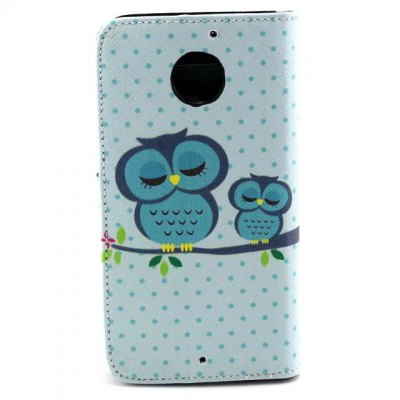 Гаджет   Stand Design Owls Pattern PU and PC Material Phone Cover Case for Motorola MOTO X 2 Other Cases/Covers