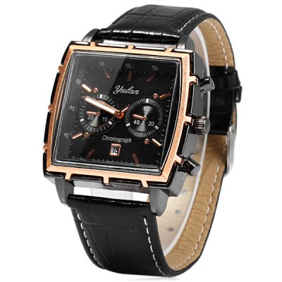 Yulan 6677 Business Quartz Watch Date Display Decorative Sub - dials for MenMens Watches<br>Yulan 6677 Business Quartz Watch Date Display Decorative Sub - dials for Men<br><br>Brand: Yulan<br>Watches categories: Male table<br>Watch style: Business<br>Available color: Red, Brown, Black, White<br>Movement type: Quartz watch<br>Shape of the dial: Rectangle<br>Display type: Analog<br>Case material: Stainless steel<br>Band material: Leather<br>Clasp type: Pin buckle<br>Special features: Date, Decorating small sub-dials<br>The dial thickness: 1.0 cm / 0.39 inches<br>The dial diameter: 4.1 cm / 1.61 inches<br>The band width: 2.2 cm / 0.87 inches<br>Product weight: 0.060 kg<br>Package weight: 0.11 kg<br>Product size (L x W x H): 26 x 4.1 x 1 cm / 10.22 x 1.61 x 0.39 inches<br>Package size (L x W x H): 27 x 5.1 x 2 cm / 10.61 x 2.00 x 0.79 inches<br>Package Contents: 1 x Yulan 6677 Watch