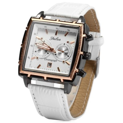Yulan 6677 Business Quartz Watch Date Display Decorative Sub - dials for Men