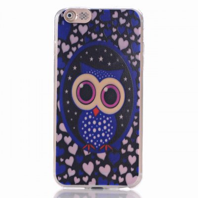 ФОТО Owl Pattern Design TPU Material Protective Back Cover Case for iPhone 6