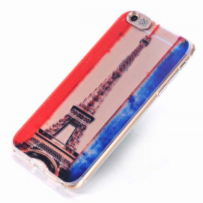 ФОТО Eiffel Tower Pattern Design TPU Material Protective Back Cover Case for iPhone 6