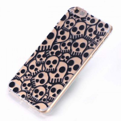 ФОТО Skull Pattern Design TPU Material Protective Back Cover Case for iPhone 6