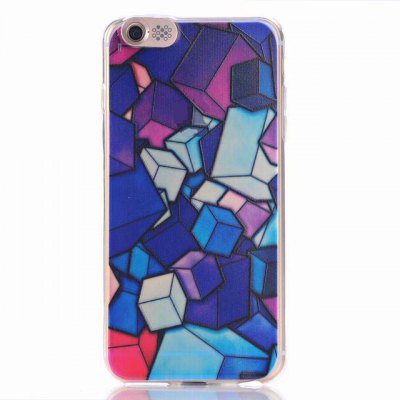 ФОТО Cube Pattern Design TPU Material Protective Back Cover Case for iPhone 6 Plus