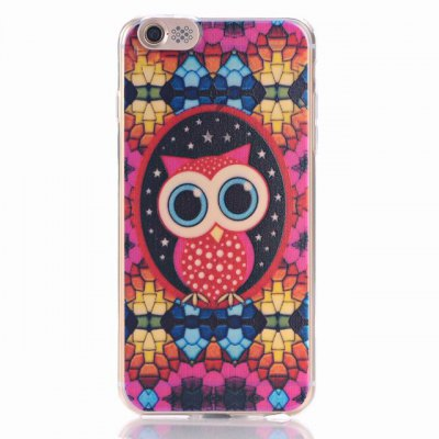 ФОТО Red Owl Pattern Design TPU Material Protective Back Cover Case for iPhone 6 Plus
