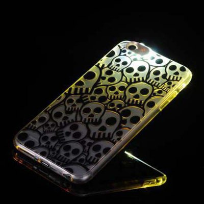 Фотография Skull Pattern Design TPU Material Protective Back Cover Case for iPhone 6 Plus