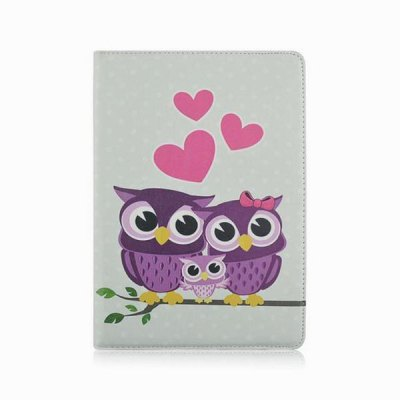 Гаджет   360 Degrees Rotation Family of Owl Design Pad Cover PU Case Skin with Stand Function for iPad Air 2 iPad Cases/Covers