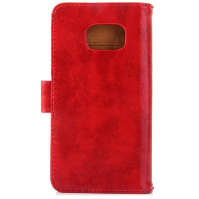 Magnetic Flip Card Holder Crazy Horse Pattern Leather Full Body Case for Samsung Galaxy S6 Edge