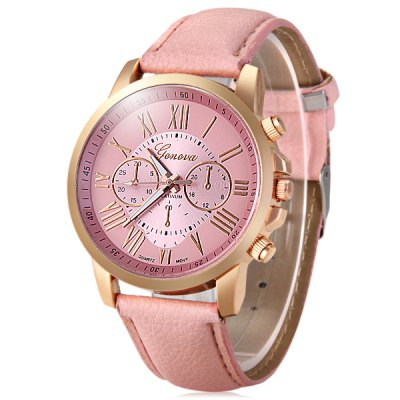 Geneva Bright Colors Leather Band Ladies Fashion Quartz WatchWomens Watches<br>Geneva Bright Colors Leather Band Ladies Fashion Quartz Watch<br><br>Brand: Geneva<br>Watches categories: Female table<br>Available color: Pink,Black,White,Green<br>Style: Fashion&amp;Casual<br>Movement type: Quartz watch<br>Display type: Analog<br>Case material: Alloy<br>Band material: Leather<br>Clasp type: Pin buckle<br>Special features: Decorating small sub-dials<br>The dial thickness: 0.8 cm / 0.31 inches<br>The dial diameter: 4.0 cm / 1.57 inches<br>The band width: 1.9 cm / 0.75 inches<br>Product weight: 0.032 kg<br>Package weight: 0.082 kg<br>Product size (L x W x H): 24.1 x 4 x 0.8 cm / 9.47 x 1.57 x 0.31 inches<br>Package size (L x W x H): 25.1 x 5 x 1.8 cm / 9.86 x 1.97 x 0.71 inches<br>Package Contents: 1 x Geneva Watch