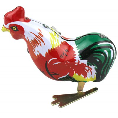 Clockwork Rooster Toy with Jumping Function