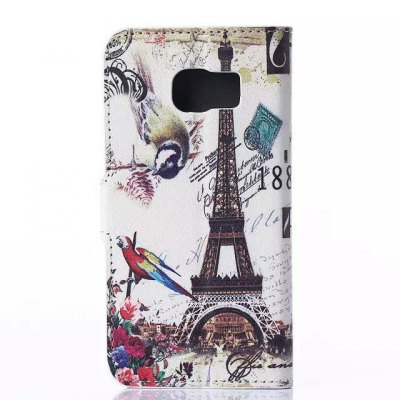Гаджет   Stand Design Triumphal Arch Pattern PU and PC Material Phone Cover Case for Samsung Galaxy S6 Edge Samsung Cases/Covers