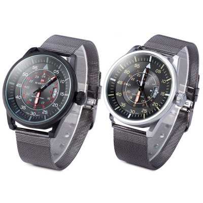 Гаджет   Naviforce Japan Quartz Watch Water Resistant Male Sports Wristwatch Men
