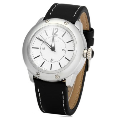 Гаджет   Julius 782 Screwed Crown Male Contracted Quartz Watch with Leather Band Men