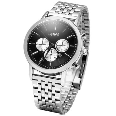 ФОТО Leina 1497 Business Quartz Watch with Date Function Stainless Steel Strap for Men