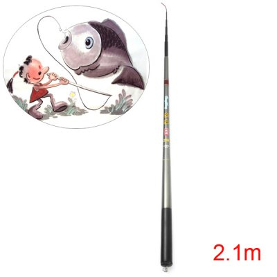 HengSheng 2.1m Fishing Rod Telescopic Carbonrod Pole Stick