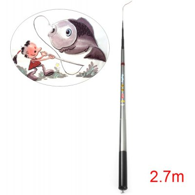 HengSheng Portable 2.7m Telescopic Fishing Rod Pole Stick Carbonrod for Fisher Angler