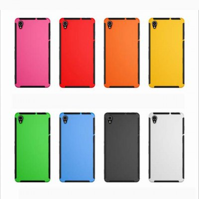 Фотография TPU and PC Material Phone Protective Case with Transparent Screen Front Cover for Sony Xperia Z3