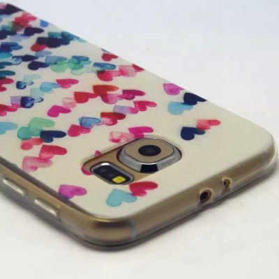 Heart Pattern TPU Material Phone Back Cover Case for Samsung Galaxy S6 G9200