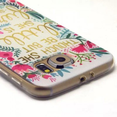 ФОТО Motto Flowers Pattern TPU Material Phone Back Cover Case for Samsung Galaxy S6 G9200