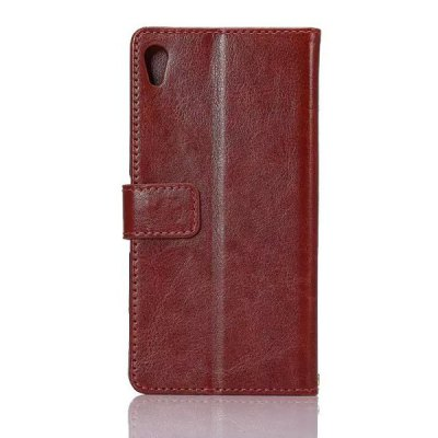 ФОТО Card Holder Stand Design PU Leather Protective Cover Case for Sony Xperia Z4