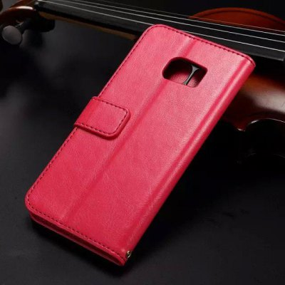 ФОТО Card Holder Stand Design PU Leather Protective Cover Case for Samsung Galaxy S6 Edge