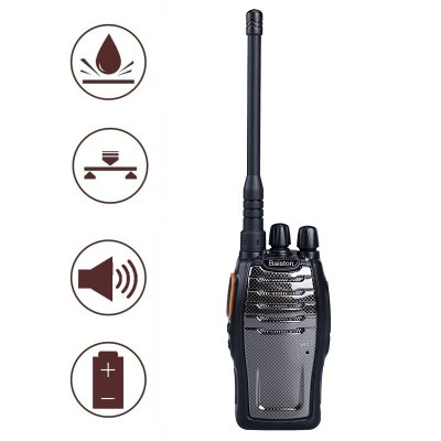 Baiston BST - 3300 6W 16CH 400~470MHz Walkie Talkie with Flashlight VOX