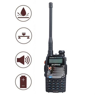 Baofeng UV5RA 1.5 inch LCD 5W Dual Band ( 136  -  174MHz / 400  -  480MHz ) Walkie Talkie with Flashlight (US Plug)