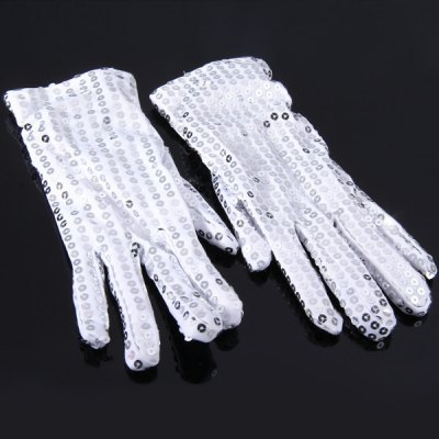 Luminous Glove Studded with Paillette Party Decoration Cosplay 1 Pair