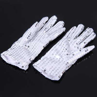 Фотография Luminous Glove Studded with Paillette Party Decoration Cosplay 1 Pair