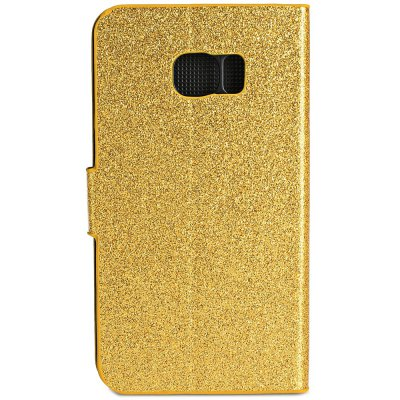 PU Leather Protective Phone Cover Case Luxury Bling aGlitter Diamonds Decor for Samsung Galaxy S6 Edge
