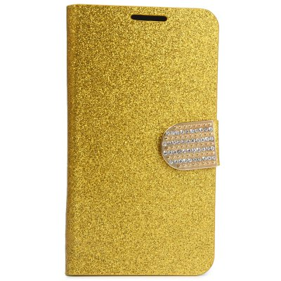 Фотография PU Leather Protective Phone Cover Case Luxury Bling aGlitter Diamonds Decor for Samsung Galaxy S6 G9200