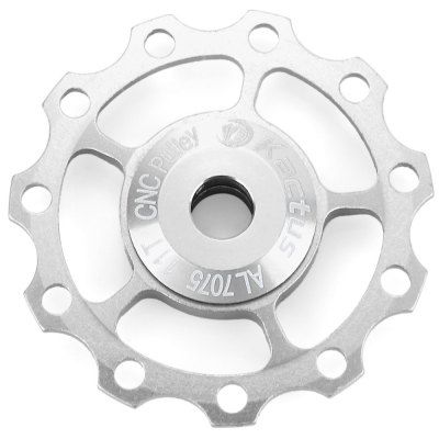 Kactus Jockey Wheel Rear Derailleur Pulley for SHIMANO SRAM / 7 / 8 / 9 / 10 SpeedBike Parts<br>Kactus Jockey Wheel Rear Derailleur Pulley for SHIMANO SRAM / 7 / 8 / 9 / 10 Speed<br><br>Brand Name: Kactus<br>Type: Jockey wheel rear derailleur pulley<br>Material: Aluminum alloy<br>Suitable for : Bike<br>Color: Red, Blue, Gold, Silver, Black<br>Size(inch): 11T<br> Product weight : 0.013 kg<br>Package weight : 0.063 kg<br>Product size (L x W x H)   : 4.2 x 4.2 x 0.5 cm / 1.65 x 1.65 x 0.20 inches<br>Package size (L x W x H)  : 6 x 6 x 2 cm / 2.36 x 2.36 x 0.79 inches<br>Package Contents: 1 x Kactus Aluminium Jockey Wheel Rear Derailleur Pulley