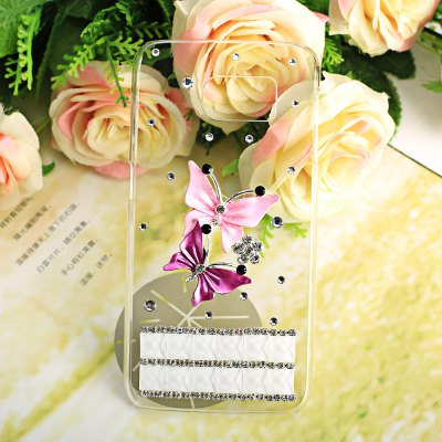 Luxury Bling Butterfly Diamonds Phone Cover Case for Samsung Galaxy S6 G9200