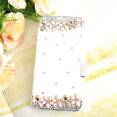 Luxury Bling Diamonds PU Leather Cover Case for Samsung Galaxy S6 G9200
