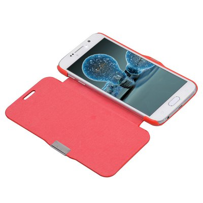 Magnetic Snap Design Flip Leather Cover Case for Samsung Galaxy S6 G9200