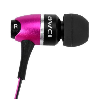 Awei S80vi 1.25m Cable Metal Rock In - ear Earphone with Mic Volume Control