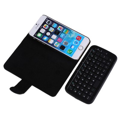 Фотография KB  -  6301 2 - in - 1 PU Leather Flip Case with Wireless Bluetooth Keyboard for iPhone 6 6S 4.7 inch