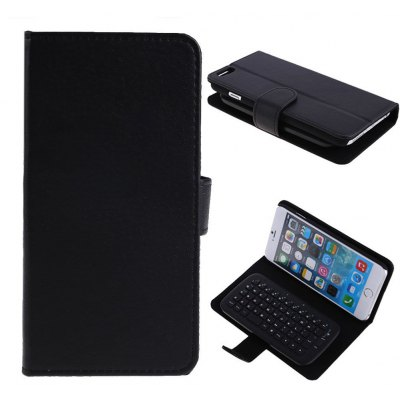 KB - 6301 2-in-1 PU Leather Case with Wireless Bluetooth Keyboard for iPhone 6 Plus 6S Plus 5.5 inch