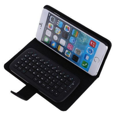 KB  -  6301 2 - in - 1 PU Leather Flip Case with Wireless Bluetooth Keyboard for iPhone 6 Plus 6S Plus 5.5 inch