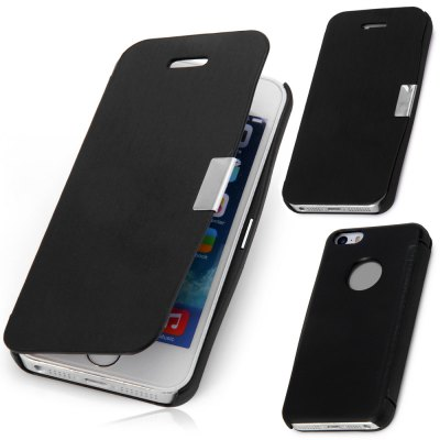 Magnetic Snap Design Flip Leather Case Cover for Apple iPhone SE 5S