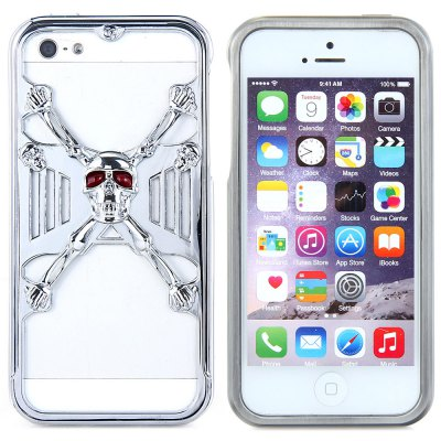Jail Break 3D Skull Metal Phone Bumper Frame Case with Safeguard Films for Apple iPhone 5S 5