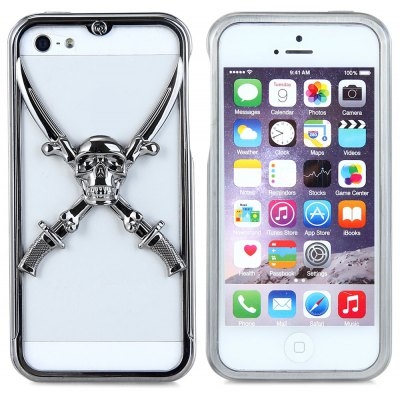 3D Victory Skull Metal Bumper Frame Case for iPhone 5 5S