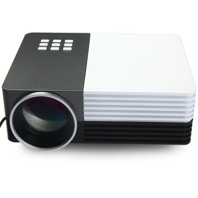 GM50 Multifunctional Home Theater LCD Projector 80 LM 480 x 320 Pixels with Keystone Correction for PC LaptopProjectors<br>GM50 Multifunctional Home Theater LCD Projector 80 LM 480 x 320 Pixels with Keystone Correction for PC Laptop<br><br>Model: GM50<br>Material: Glass,Plastic<br>Display type: LCD<br>Native Resolution: 480 x 320<br>Resolution Support: 1080P<br>Brightness: 80 Lumens<br>Contrast Ratio: 500:1<br>Throw Ration: 1.6:1<br>Lamp Power: 30W<br>Lamp: LED<br>Interface: HDMI,USB,AV,Micro USB,VGA,SD Card Slot<br>Power Supply: 12V<br>Other Features: Built-in Speaker<br>Lamp Life: 20000 hours<br>Aspect ratio: 16:9 / 4:3<br>Product weight: 0.680 kg<br>Package weight: 1.200 kg<br>Product size (L x W x H): 17.00 x 14.30 x 7.20 cm / 6.69 x 5.63 x 2.83 inches<br>Package size (L x W x H): 23.00 x 17.00 x 10.00 cm / 9.06 x 6.69 x 3.94 inches<br>Package Contents: 1 x Projector, 1 x Remote Control, 1 x Power Cable, 1 x AV Cable, 1 x User Manual