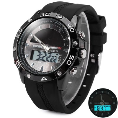 Skmei 1064 Double Movt Solar Power LED Military Watch