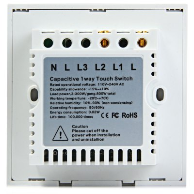 Фотография FUNRY Home Touch Switch 1 Gang One - way Intelligent Control Switch  -  UK Standard