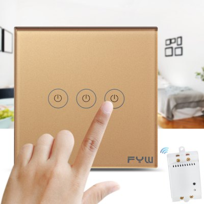 FYW Smart 3 Gang Touch Remote Wall Switch