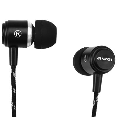 Фотография Awei ES  -  Q35 1.2m Canvas Cable Noise Isolation In - ear Earphone for Smartphone Tablet PC