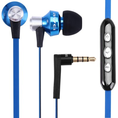 Awei S950vi 1.2m Flat Cable Design In - ear Earphone with Volume Control Mic for Android Mobile Phone with CTIA Standard