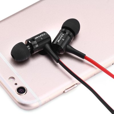 Фотография Awei ES  -  120i 1.2m Flat Cable Design In - ear Earphone with Mic for Smartphone Tablet PC