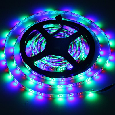 5 Meters 24W 300 SMD 3528 LEDs IP65 Water Resistant LED RGB Strip Light Set ( 12V 5A )LED Strips<br>5 Meters 24W 300 SMD 3528 LEDs IP65 Water Resistant LED RGB Strip Light Set ( 12V 5A )<br><br>Light Color: RGB<br>Voltage (V): DC12<br>Output Power(W): 24W<br>Features: IP-65<br>Length (m): 5m<br>Number of LEDs: 300 x SMD-3528 LED<br>Product weight: 0.215 kg<br>Package weight: 0.571 kg<br>Product size (L x W x H): 16.8 x 16.8 x 1.3 cm / 6.60 x 6.60 x 0.51 inches<br>Package size (L x W x H): 29 x 22 x 7 cm / 11.40 x 8.65 x 2.75 inches<br>Package Contents: 1 x 5M 24W 300 SMD 3528 LEDs RGB Strip Light, 1 x Controller, 1 x Power Cable, 1 x AC / DC Adapter, 1 x Receiver