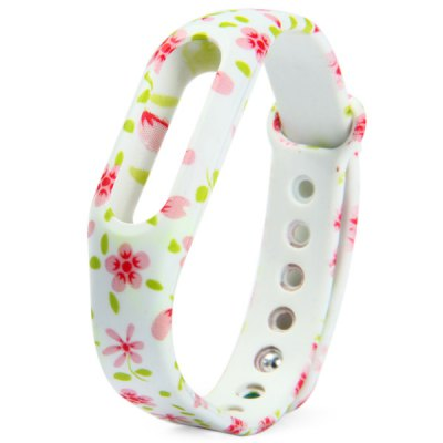 Floral Pattern Strap TPU Wristwatch Band for Xiaomi Miband / 1S